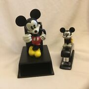 Disney Mickey Mouse Office Accessories Stapler Pens Cards Holder Figurines Set 2