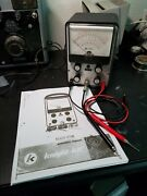 Vintage Allied Knight Kg-620 Vtvm With Probes. Good Condition. Tested/working
