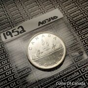 1952 Canada 1 Silver Dollar Coin - Sealed In Acid-free Package Coinsofcanada