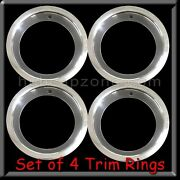 Set Of 4 15x8 Stainless Steel Trim Rings Beauty Rings 3 Deep 15 X 8 Chrome.