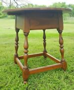 Ethan Allen Country Craftsman Table 19-8306 End Side Round Accent