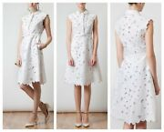 Nwt Valentino White Belted Silk And Floral Macramé Lace Dress Us 6 42 Summer