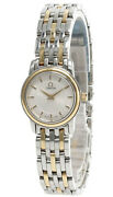 Omega De Ville 22mm White Dial 18k Gold 2-tone Womenand039s Watch 4370.71.00