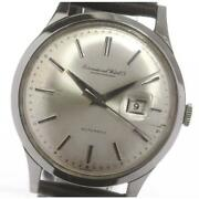 Antique Cross-eyed Date Cal 8541 Self-winding Stainless Menand039s Watch [b0601]