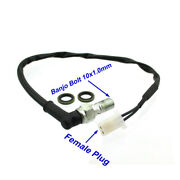Female Plug Universal Brake Switch For Motorcycle Dirt Pit Hydraulic Brakes