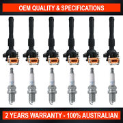 Pack Of Swan Ignition Coils And Ngk Spark Plugs For Bmw Z3 S50 B32 3.2l