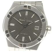Maurice Lacroix Icon Date Ai6007 Automatic Black Stainless Menand039s Watch [b0601]
