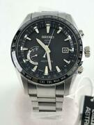 Seiko Astron Japan Date Black World Time Gps Solar Mens Watch Authentic Working