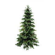 Allstate 10and039 New England Pine Artificial Christmas Tree Pine Cones Clear Lights