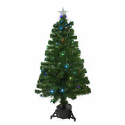 Northlight 4and039 Led Fiber Optic Christmas Tree With Star Tree Topper