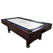 Pool Central 8ft Recreational 2-in-1 Pool Billiards And Hockey Game Table