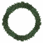 Northlight 10and039 Pre-lit High Sierra Pine Artificial Christmas Wreath Clear Lights