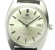 Schaffhausen Date Old Inter Antique Automatic Silver Dial Menand039s Watch U0601