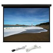 150 Motorized Projector Screen 169 Hd White Matte Home Theater W/ Ir Remote