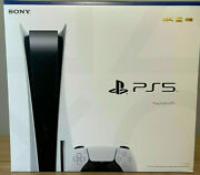 New Playstation 5 Blu-ray Standard Disc Edition Console Ps5 White Console System