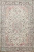 Semi-antique Floral Traditional Oriental Area Rug Hand-knotted Living Room 10x13