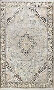 Silk Semi-antique Ivory Floral Traditional Oriental Area Rug Hand-knotted 6x9 Ft