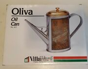 Vintage Tin Can Olio D'oliva Lucca Toscana Olive Oil Italy Handle And Spout