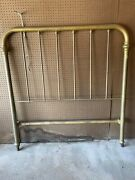 Antique Brass Bed And Frame - 3/4 Size