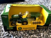 John Deere X728 Garden Tractor With Attachments By Ertl 1/16th Scale