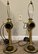 Pair Of Western Electric, And Northern Electric Telephone Lamps For Railroad