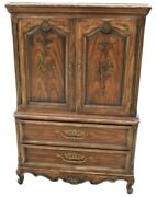 Drexel Brittany Heritage French Provincial Louis Xv Tall Door Chest 202-420