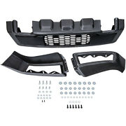 3pcs Front Bumper Conversion Upgrade For Ford F150 2009-2014 Gray