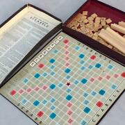 Vintage Selchow And Righter Scrabble Brand Crossword Board Game With Box