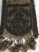 18th.c Heavy Decorated W Gild Bullion Lace And Metal Tread Embroidery Table Runner