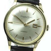 Antique Cal.8531 Automatic Silver Dial Gold Plated Ss Menand039s Watch [b0602]