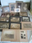 Antique Lot Of 18 Large Tintype Photographs Assorted Photo Image Sizes Victorian
