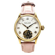 Wristwatch Memorigin Ready 4894379121017 Womenand039s Used Gold Pink Leather