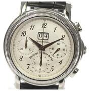 Philippe Dubois Fils Grand Date Chronograph Automatic Ss Menand039s Watch [b0602]