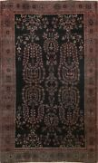 Antique Pre-1900 Floral Oriental Traditional Area Rug Hand-knotted 4and039x7and039 Carpet