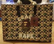 A Bathing Ape Coach Collaboration Tote Bag Canvas Color Brown Womenand039s Logo New