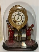 Antique Ansonia Crystal Palace No.1 Extra Mantle Clock W/ Glass Dome C.1870's