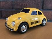 Beetle Japanese Tinplate Toy Car Ichiko Yellow Vintage Made In Japan Excellent