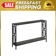 Convenience Concepts Town Square Metal Frame Console Table Weathered Gray/black