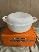 Le Creuset Cast Iron 4.25-qt Multifunction Oven With Baker Lidblanc Shiny White4