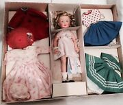 Shirley Temple St-12 Doll And Clothing 1958 Sears Gift Set In Gold Star Box Rare