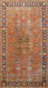Antique Geometric Oriental Traditional Area Rug Hand-knotted Wool Carpet 7x10 Ft