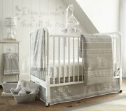 Levtex Baby Ely Grey/white 6-pc Crib Bedding Set Includes Musical Mobile++new