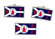 Fort Wayne In Usa Flag Cufflink And Tie Pin Set