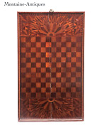 Large Elaborate Inlaid Game Board 19th Cent