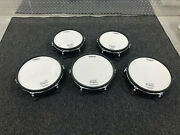 5 Pack Roland Pd-128-bc Pd-108 Tom / Snare 12 V Drum Mesh Head Snare Drum