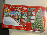 Vintage Christmas Magic Express Battery Op Musical Animated Train Set 1996 New