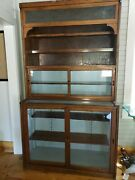 Antique Apothecary Cabinet Doctor's Cabinet Dental Cupboard Hutch And Base