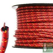 30 Meter Roll 7mm Ht Ignition Lead Cable - Gloss Rbyf Wire Core Cotton Braided