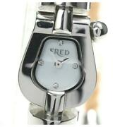 Fred Force 10 4p Fd070110 Quartz White Shell Dial Stainless Ladies Watch [b0603]