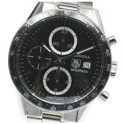 Tag Heuer Carrera Chronograph Cv2010-1 Automatic Stainless Menand039s Watch [b0603]